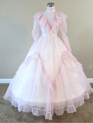 Steampunk®Mid-19th Century Peach Civil War Southern Belle Ball Gown Reenactment Dress
