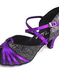 Women's Latin Sandals Heel Dance Shoe Customizable