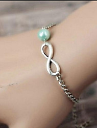 Infinity Multicolor Pearl Silver Alloy Sister Friendship Bracelet Bridesmaid Gift(1 Piece)