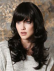 foutique moda en europa y la larga naturaleza peluca rizada en una peluca puede ser muy caliente puede ser teñido negro