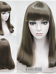 Natural  Medium Brown Straight Women Full Synthetic Hair Wig Blonde Golden COLOUR CHOICES