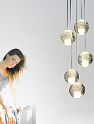 UMEI™ Modern Pendant Lights Pendant Lamp 5 Lights G4 Retroifit  Chrome Plating Crystal for Dining Room Stairs Light