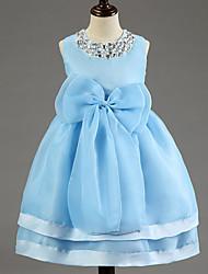 Girl's Cotton Blend Flower girls Dress Summer Sleeveless