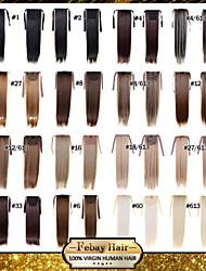 excelente qualidade sintética de 22 polegadas peruca longa reta fita rabo de cavalo - 16 cores disponíveis