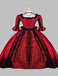 robe victorienne robe médiévale robe costume rouge steampunk®wine renaissance de faire gothique