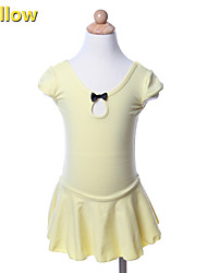 kids dance costumes Ballet Tutus & Skirts / Dresses Children's Performance / Training Cotton Bow(s) 1 Piece Yellow