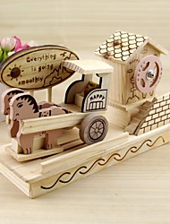 Wooden Iocomotive Truck Model Music Box Music Box Creative DIY Decoration