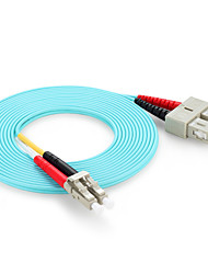 Shengwei® 10 GIG LC/UPC-SC/UPC OM3 Multimode Dual Core Optical Fiber Jumper 3M/5M/10M
