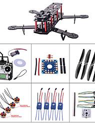 mini-qav250 fibra de carbono r / c Quadrotor w / motor esc controlador de vôo de combinação