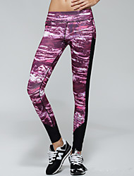 Slim Fitted Yoga Pants With Cluster Color