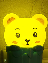 Creative Light-Operated  Lovely Bear ABS LED Light Night lamp AC 220V/50Hz 0.2W
