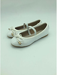 Girls' Shoes Dress / Casual Ballerina Patent Leather Flats White