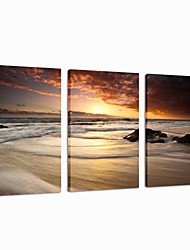 VISUAL STAR®Beach Scenery Stretched Canvas Print Sea Picture Group Wall Art Ready to Hang