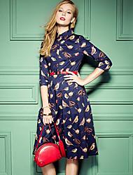 Women's Bird Print Dress