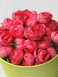 Flower Heads Wedding Studio Props Polyester Roses Artificial Flowers(10PCS)