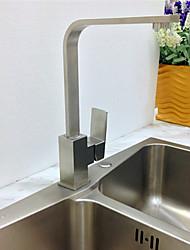 Contemporâneo Bar / Prep Montagem em Plataforma Pré Enxaguada with  Válvula Cerâmica Single Handle Uma Abertura for  Níquel Escovado ,