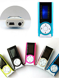 Mini slim clipe usb mp3 player de mídia lcd tela
