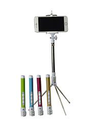 luxuy alta calidad de la fibra de carbono plegable multi-función de zoom tamaño trípode bluetooth selfie stick inalámbrico: 28x15x4cm