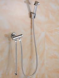 Grifo de ducha / Grifo de bañera - Contemporáneo - Alcachofa incluida - Latón (Cromo)