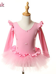 kids dance costumes Ballet Tutus & Skirts / Dresses Children's Performance / Training Cotton Bow(s) 1 Piece Pink