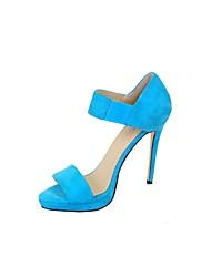 Women's Spring / Summer / Fall Open Toe Leatherette Office & Career / Dress / Party & Evening Stiletto Heel Blue