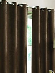 Dos Paneles Ventana Tratamiento Moderna Sala de estar Poliéster Material Blackout cortinas cortinas Decoración hogareña For Ventana