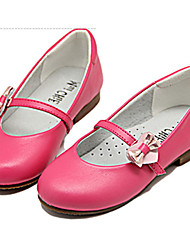 Girls' Shoes Casual Round Toe Leather Flats Pink / White