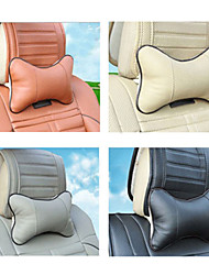 Car Auto Neck Rest Cushion PU Leather Pillow Pad 4 Colors
