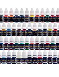 solong Tattoofarbe 54 Farben eingestellt 8 ml / Flasche Tätowierpigment-Kit