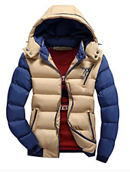 Mildness Men's Hoodie Coats & Jackets , Cotton Blend Long Sleeve Casual Pocket Winter