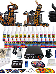 solong tattoo compleet tattoo kit pro 2 machinegeweren 28 inkten voeding naald grips