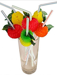 50-Pack Decorative Cocktail Drink Straw Disposable Party Straws Party Favors (Random Color)