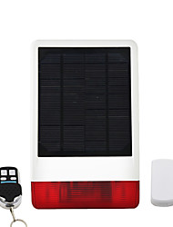 Wireless Outdoor Siren Alarm System Spot Solar System with LED Strobe