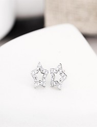 Dallas cowboys jersey mercurial superfly five-pointed star fine jewelry  sterling silver /brand  /3a cz stud earrings
