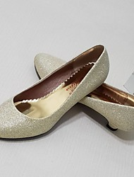 Women's Shoes Glitter Kitten Heel Heels Pumps/Heels Wedding/Outdoor/Dress/Casual Silver/Gold