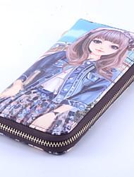 Girls 's PU Bi-fold Clutch/Evening Bag/Wallet/Card & ID Holder/Coin Purse/Checkbook Wallet