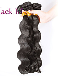 "3 Pcs Lot 12""-30"" Brazilian Body Wave Virgin Hair Wefts Jet Black Remy Human Hair Weave  Tangle Free"