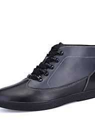 Men's Shoes Casual Leather Boots Blue / White