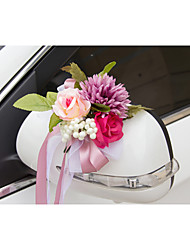 Artificial Flower Decoration Car Door & Rearview Mirror(18*40cm)