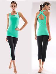 Outros Mulheres Ioga Ternos Sem Mangas Materiais Leves Others Ioga / Pilates / Fitness / Esportes Relaxantes / Corrida M / L / XL