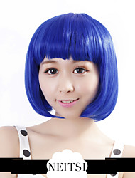 "Neitsi 100% Kanekalon Fiber 14""(35cm) 160g/pc Women's Girl's Cosplay Short Synthetic BOB Hair Wigs Blue"