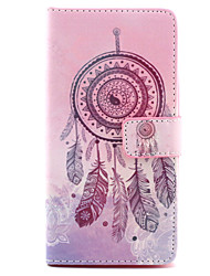 Feather Dreamcatcher Pattern PU Leather Case with Money Holder Card Slot for BQ Aquaris E5