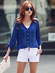 Women's Solid  Shirt(chiffon)