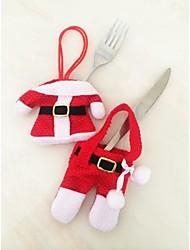 Tres de Navidad un traje de conjunto ropa de vajilla
