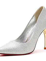 Women's Shoes Suede Stiletto Heel Heels / Comfort Heels Party & Evening / Dress / Casual Black / Red / Silver