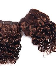 Super Wave Hair Extensions Set #4 Light Brown Virgin Human Hair Weave Brazilian Loose Wave Hair Weaving