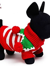 FUN OF PETS® Festival Stripe Sweather Christmas Dog Clothes/Sweather for Pets  Dog Dogs Clothing