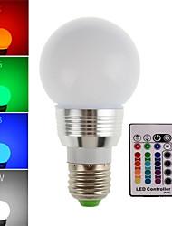 3w e27 / e14 rgb 180lm lampe led ampoule led spot avec télécommande (85-265V)