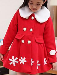 Vestido Chica de - Invierno / Otoño - Algodón - Rosa / Rojo / Amarillo