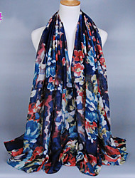Women's Fashion Flowers Print Scarf